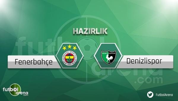 Fenerbahçe - Denizlispor hazırlık maçı saat kaçta, hangi kanalda?