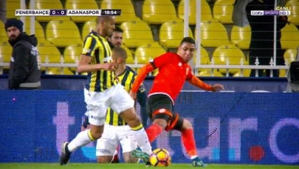 Fenerbahçe'nin Adanaspor maçında penaltısı verilmedi mi?