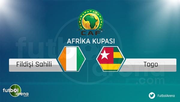 Fildişi Sahili - Togo maçı saat kaçta, hangi kanalda?