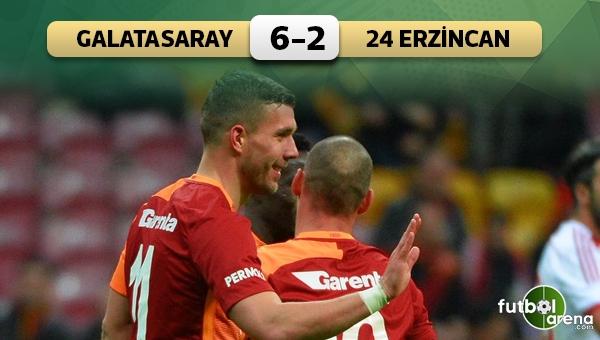 Galatasaray 6-2 Erzincanspor maç özeti ve golleri
