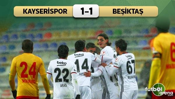 Kayserispor 1-1 Beşiktaş maç özeti ve golleri