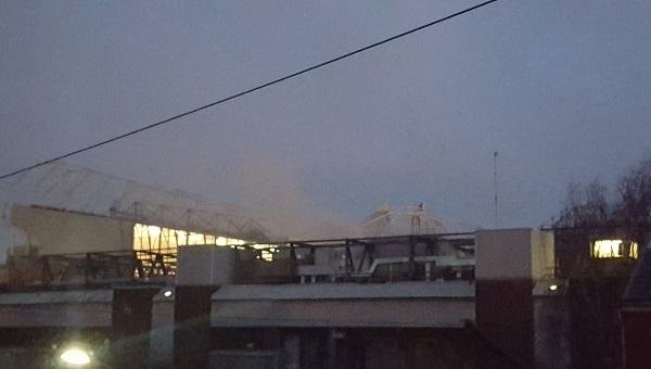 Manchester United'ın stadı Old Trafford'da yangın