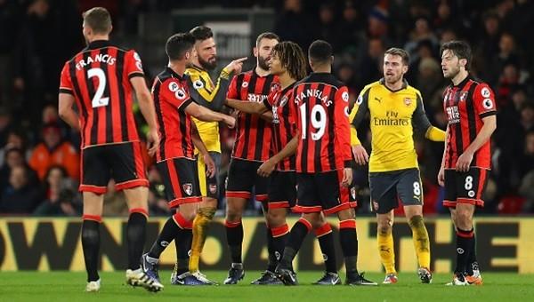 Bournemouth - Arsenal maçı özeti ve golleri