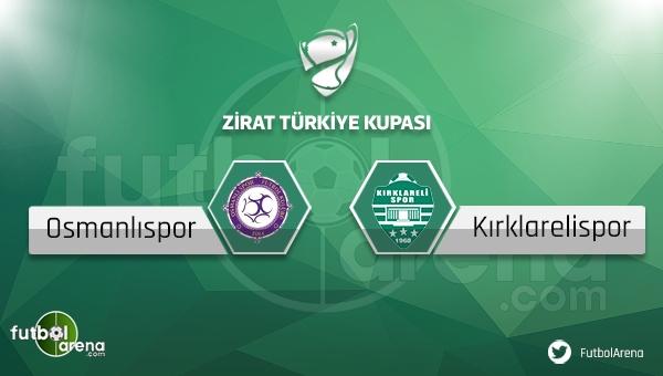 Osmanlıspor - Kırklarelispor maçı saat kaçta, hangi kanalda?