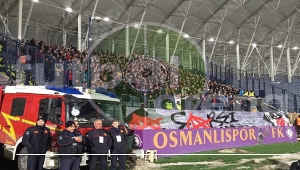 Osmanlıspor taraftarı Beşiktaş'ın Mustafa Kemal tezahüratını ıslıkladı