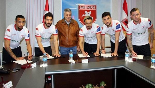 Samsunspor'da imza şov