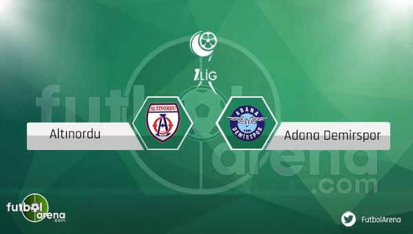 Altınordu - Adana Demirspor maçı ne zaman, saat kaçta? (Altınordu Adana Demir canlı izle)