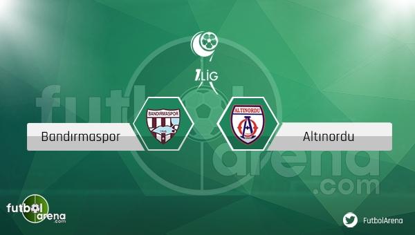 Bandırmaspor - Altınordu maçı ne zaman, saat kaçta? (Bandırma Altınordu maçı)