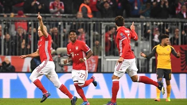 Bayern Münih 5-1 Arsenal maç özeti ve golleri