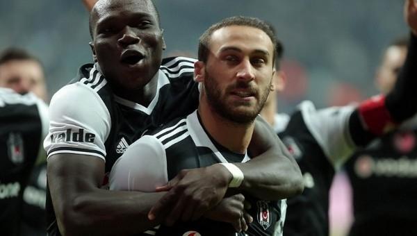 Beşiktaş'ı sırtlayan ikili; Cenk Tosun ve Aboubakar