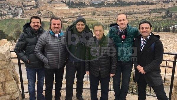 Beşiktaşlı yöneticiler, Hopel Beer Sheva maçı öncesi Kudüs'te kutsal mekanları ziyaret etti