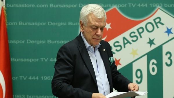 Bursaspor'da flaş istifa! Yönetimde...