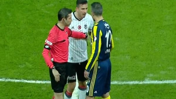 Beşiktaş - Fenerbahçe derbisi Oğuzhan ve Van Persie arasında büyük gerilim