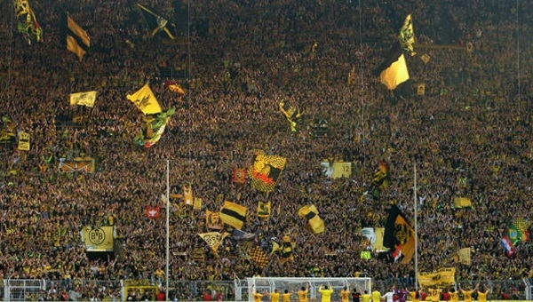 Stadını en çok dolduran takım Borussia Dortmund