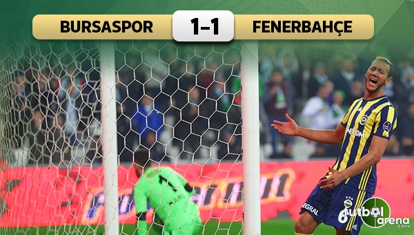 Bursaspor 1-1 Fenerbahçe maç özeti ve golleri