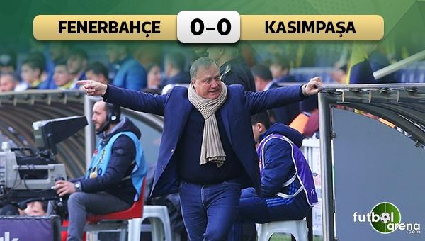 Fenerbahçe 0-0 Kasımpaşa maç özeti ve golleri