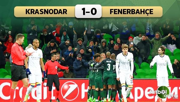Krasnodar 1-0 Fenerbahçe maç özeti ve golleri