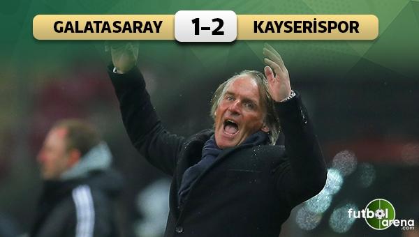 Galatasaray 1-2 Kayserispor maç özeti ve golleri