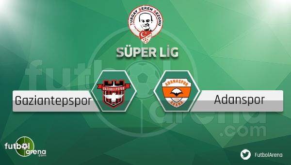 Gaziantepspor - Adanaspor maçı ne zaman, saat kaçta? (Gaziantep Adana maçı)