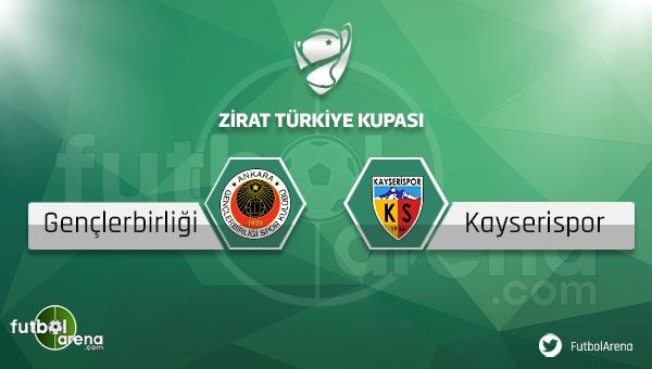 Gençlerbirliği - Kayserispor Türkiye Kupası maçı saat kaçta, hangi kanalda?