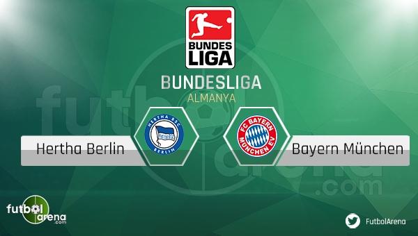 Hertha Berlin - Bayern Münih maçı saat kaçta, hangi kanalda?