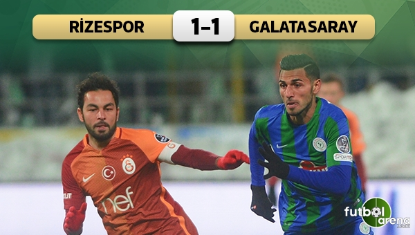 Çaykur Rizespor 1 - 1 Galatasaray maç özeti ve golleri