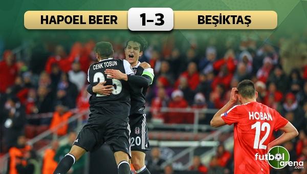 Hapoel Beer Sheva 1 - 3 Beşiktaş maç özeti ve golleri
