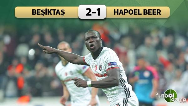 Beşiktaş 2 - 1 Hapoel Beer Sheva maç özeti ve golleri