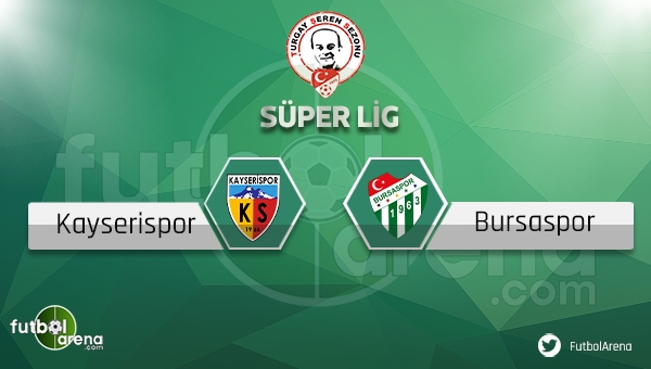 Kayserispor - Bursaspor maçı saat kaçta, hangi kanalda? (Bursa Kayseri maçı ne zaman?)