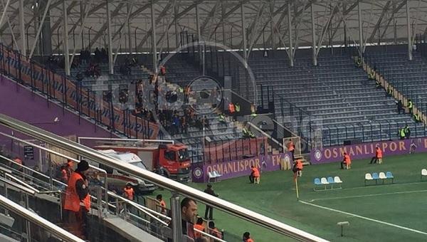 Osmanlıspor - Medipol Başakşehir maçında ilginç olay