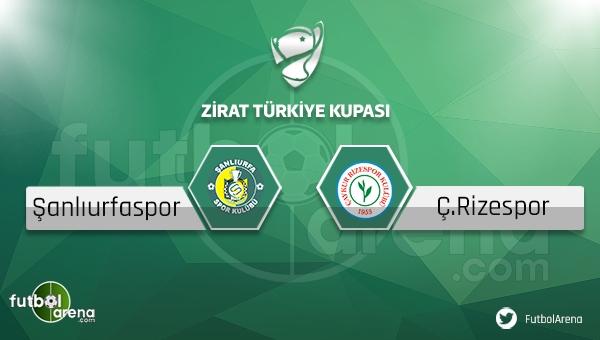 Şanlıurfaspor - Çaykur Rizespor Türkiye Kupası maçı saat kaçta, hangi kanalda?