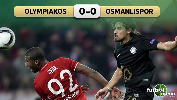 Olympiakos 0-0 Osmanlıspor maç özeti