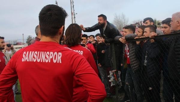 Futbolcularla taraftarlar arasında Trabzon tartışması - Samsunspor Haberleri