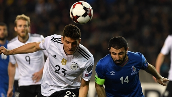 Mario Gomez'in Azerbaycan'a attığı gol (İZLE)