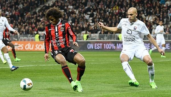 Nice 2-2 Caen maçı özeti ve golleri