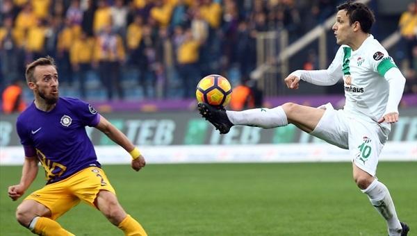 Osmanlıspor 1-1 Bursaspor maçı özeti ve golleri