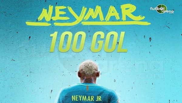 '100'ler kulübü'nün son üyesi Neymar
