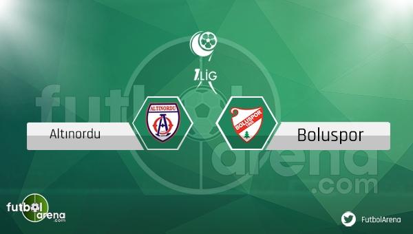 Altınordu Boluspor maçı saat kaçta, hangi kanalda? - CANLI İZLE