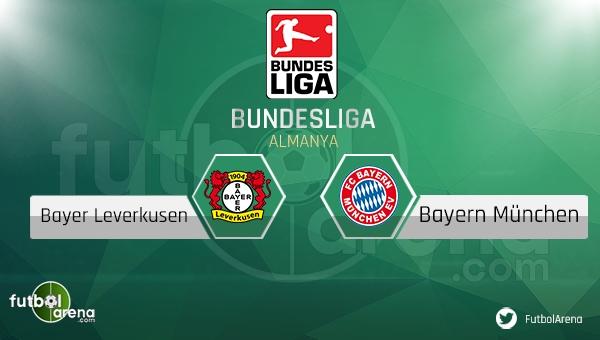 Bayer Leverkusen - Bayern Münih maçı saat kaçta, hangi kanalda? (CANLI İZLE)