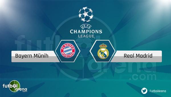 Bayern Münih - Real Madrid maçı saat kaçta, hangi kanalda? (Bayern Münih Real Madrid şifresiz nasıl izlerim?)