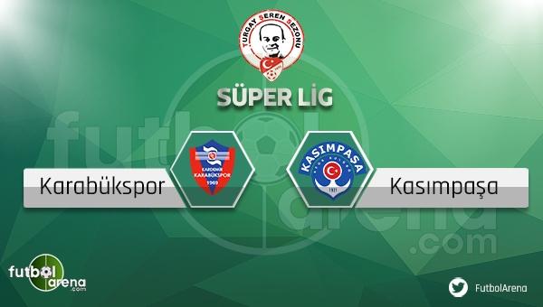 Karabükspor Kasımpaşa Canlı Skor, Maç Sonucu (Bein Sports 2 Lig TV 2 canlı yayın)