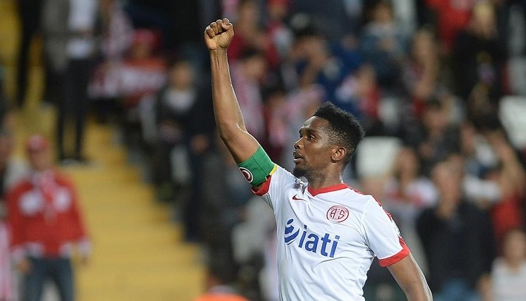 Antalyaspor'da Eto'o tarihe geçmek istiyor