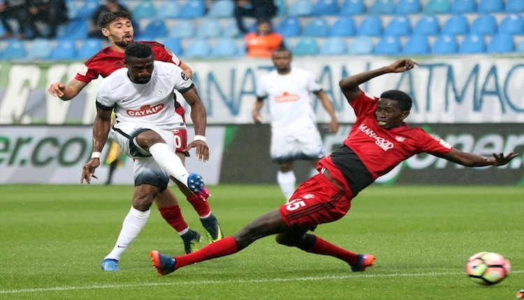Çaykur Rizespor 2 - 0 Gaziantepspor maç sonucu ve özeti