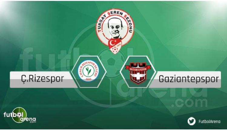 Çaykur Rizespor Gaziantepspor sakat cezalı futbolcular