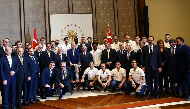 Fenerbahçe'den Cumhurbaşkanı Erdoğan'a ziyaret