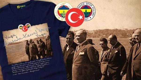 Fenerbahçe'den Mustafa Kemal Atatürk tişörtü