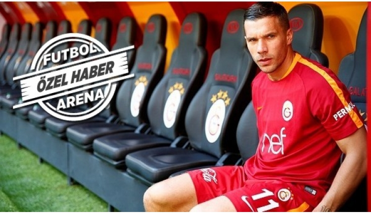 Galatasaray'da Podolski'den basına veda