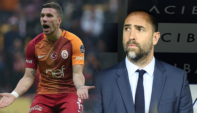 Gaziantepspor - Galatasaray maçında Podolski ile Tudor arasında tartışma