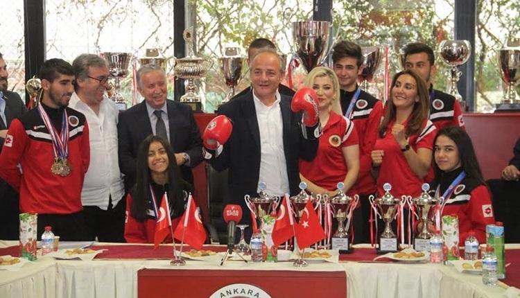 Gençlerbirliği'nde amatör sporculardan Murat Cavcav'a ziyaret