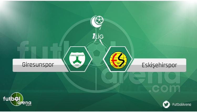 Giresunspor - Eskişehirspor ne zaman, saat kaçta, hangi kanalda? (CANLI)